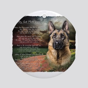 godmadedogs Round Ornament